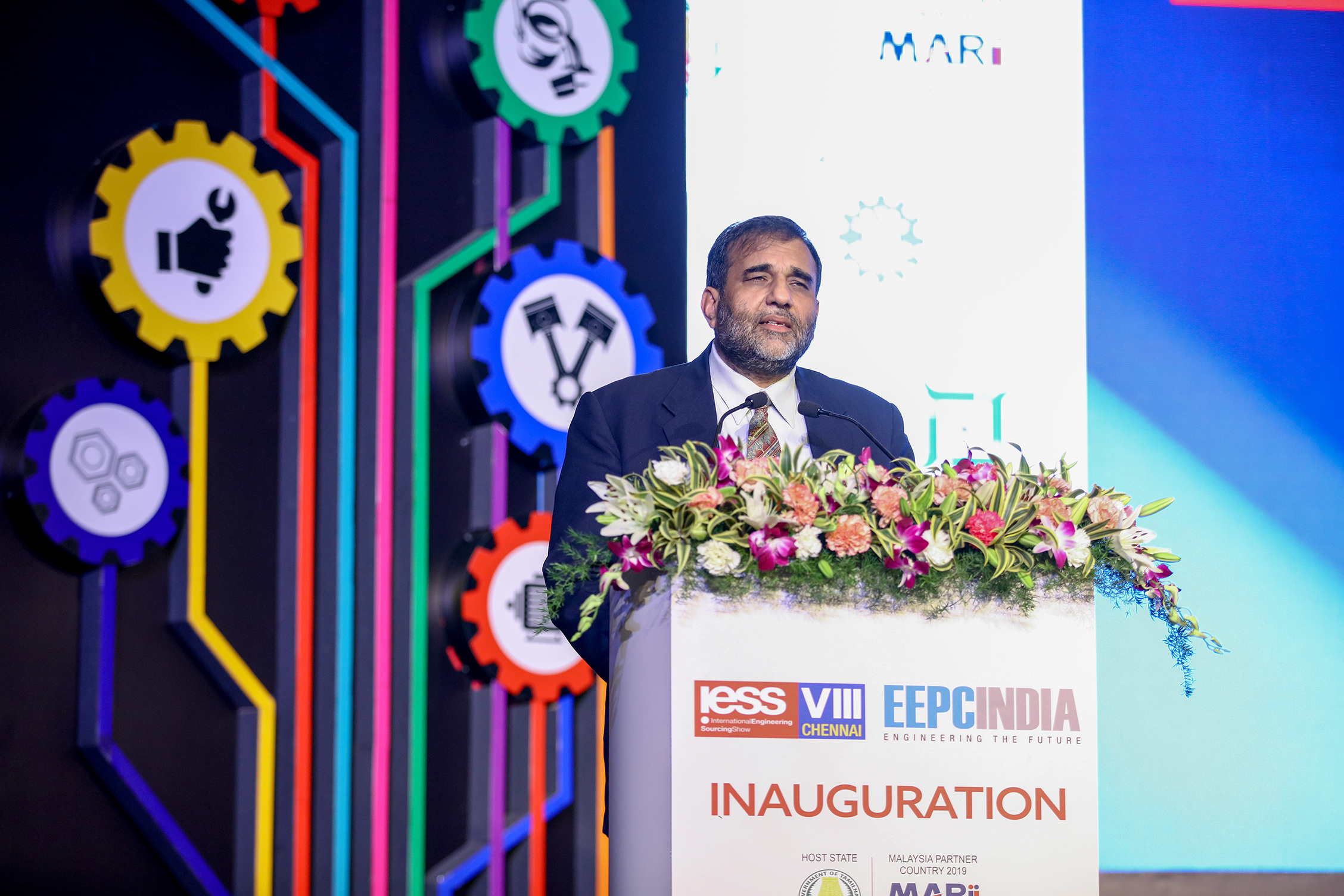 Dr Anup Wadhawan, Commerce Secretary, Dept of Commerce, Ministry of Commerce and Industry, Govt of India addressing gathering at the Opening Ceremony